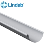 Lindab Steel Half Round Guttering 190mm x 3m Painted Silver Metallic