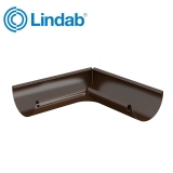 Lindab Half Round 90dg Inner Gutter Angle 125mm Painted Brown