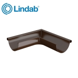 Lindab Half Round 90dg Outer Gutter Angle 125mm Painted Brown