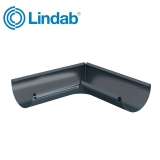 Lindab Half Round 90dg Inner Gutter Angle 125mm Painted Dark Grey