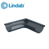 Lindab Half Round 90dg Outer Gutter Angle 125mm Painted Dark Grey
