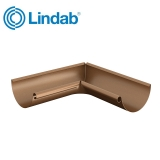 Lindab Half Round 90dg Inner Gutter Angle 125mm Painted Copper