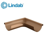 Lindab Half Round 90dg Outer Gutter Angle 125mm Painted Copper
