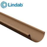 Lindab Steel Half Round Guttering 150mm x 3m Painted Copper Metallic