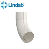 Lindab Steel Guttering Round 70dg Pipe Bend 75mm Painted Antique White