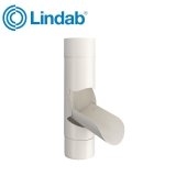 Lindab Guttering Manual Rainwater Diverter 87mm Painted Antique White