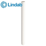 Lindab Steel Guttering Round Downpipe 87mm x 3m Painted Antique White