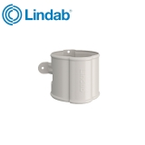 Lindab Round Downpipe Bracket 75mm Painted Antique White