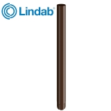 Lindab Steel Guttering Round Downpipe 75mm x 3m Painted Brown