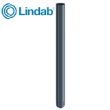 Lindab Steel Guttering Round Downpipe 75mm x 3m Painted Dark Grey