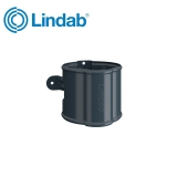 Lindab Round Downpipe Bracket 75mm Painted Dark Grey