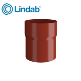 Lindab Round Pipe Connector 75mm Painted Tile Red