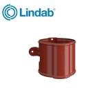Lindab Round Downpipe Bracket 75mm Painted Tile Red