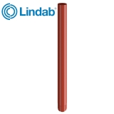 Lindab Steel Guttering Round Downpipe 87mm x 3m Painted Tile Red
