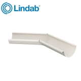 Lindab Half Round 135dg Inner Gutter Angle 100mm Painted Antique White