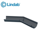 Lindab Half Round 135dg Inner Gutter Angle 125mm Painted Dark Grey