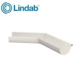 Lindab Half Round 135dg Outer Gutter Angle 100mm Painted Antique White