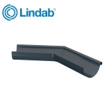 Lindab Half Round 135dg Outer Gutter Angle 125mm Painted Dark Grey