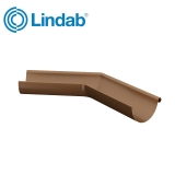 Lindab Half Round 135dg Outer Gutter Angle 125mm Painted Copper