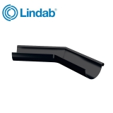 Lindab Half Round 135dg Outer Gutter Angle 150mm Painted Black
