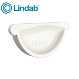 Lindab Half Round Self Sealing Stop End 125mm Painted Antique White