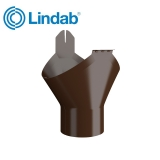 Lindab Half Round Gutter Outlet 125mm Painted Brown