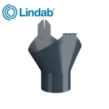 Lindab Half Round Gutter Outlet 125mm Painted Dark Grey