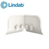 Lindab Half Round Overflow Protector 100mm - 190mm Painted White