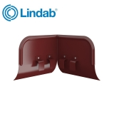 Lindab Half Round Overflow Protector 100mm - 190mm Painted Dark Red