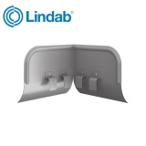 Lindab Half Round Overflow Protector 100mm - 190mm Painted Anthracite