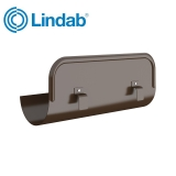 Lindab Half Round Straight Overflow Protector 125mm Painted Brown