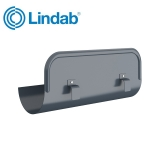Lindab Half Round Straight Overflow Protector 125mm Painted Dark Grey