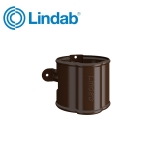 Lindab Round Downpipe Bracket 87mm Painted Brown