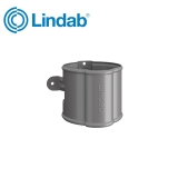 Lindab Round Downpipe Bracket 87mm Painted Anthracite Metallic