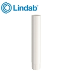 Lindab Round Intermediate Pipe 75mm x 1m Painted Antique White