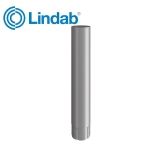 Lindab Round Intermediate Pipe 75mm x 1m Painted Anthracite