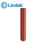 Lindab Round Intermediate Pipe 87mm x 1m Painted - Tile Red