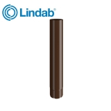 Lindab Round Intermediate Pipe 100mm x 1m Painted Brown