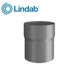 Lindab Round Pipe Connector 87mm Painted Anthracite Metallic