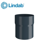 Lindab Round Pipe Connector 120mm Painted Dark Grey