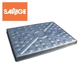Steel Access Manhole Cover and Frame 600mm x 450mm - 2.5 Tonne