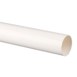 Plastic Guttering Round Style Downpipe 2.5m Length 68mm - White