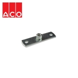 ACO 316 Stainless Steel Single Socketed Pipe Fixing Wall Plate