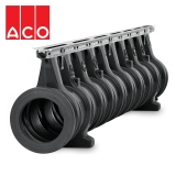 ACO Qmax 225 Slot Channel with Q-Flow Steel Edge Rail 2m
