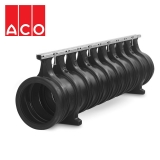ACO Qmax 225 Slot Channel with Q-Guard Steel Edge Rail 2m