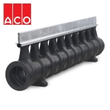ACO Qmax 225 Slot Channel with Q-Slot Steel Edge Rail 2m