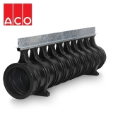 ACO Qmax 350 Slot Channel with Q-Slot Steel Edge Rail 2m