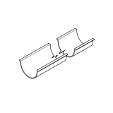 Aluminium Guttering AX Half Round Assembly 112mm x 3m- Anthracite Grey