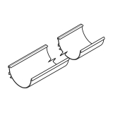 Alumasc Aqualine Half Round Gutter Assembly 150 x 75mm x 3m - White