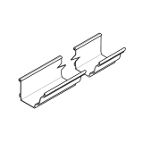 Alumasc Aqualine Moulded Gutter 140mm x 100mm x 3m - Mouse Grey